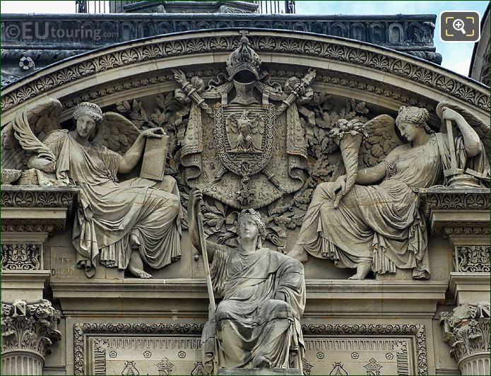 Imperial Arms On Pavillon De Rohan