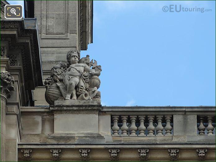 La Marine Statue On Pavillon Rohan Musee Louvre