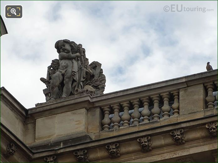 L'Ete Statue West Facade Aile Retour Turgot Musee Louvre
