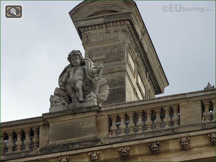 L'Eau Statue West Facade Aile Retour Turgot