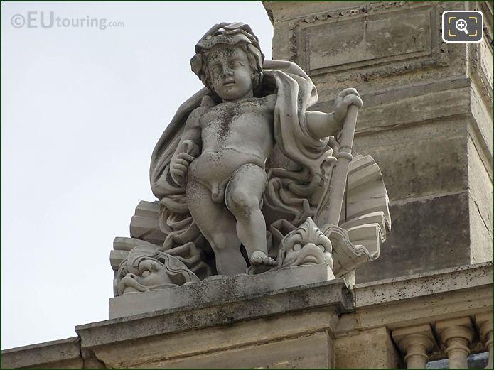 Aile Retour Turgot L'Eau Statue Musee Louvre