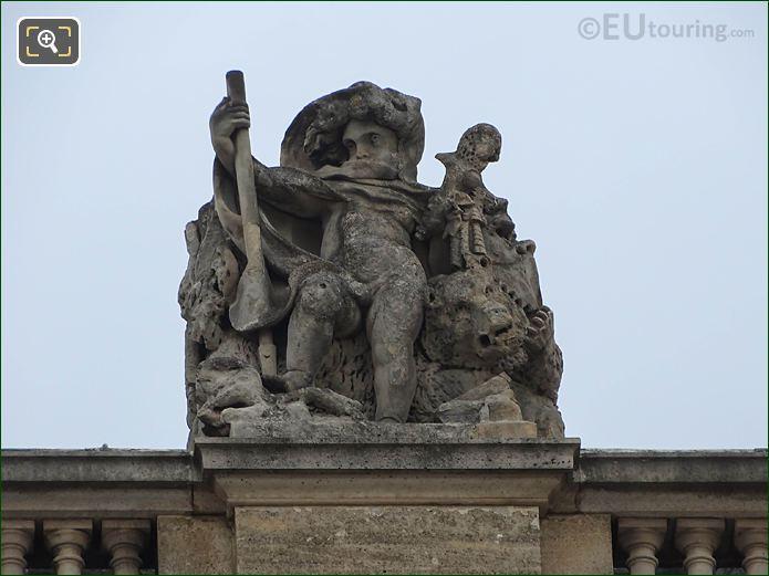 L'Hiver Statue West Facade Aile En Retour Turgot
