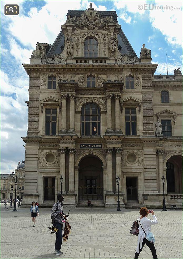 West Facade Pavillon Mollien Musee Du Louvre