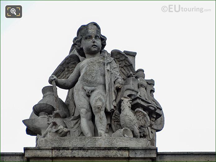 L'Industrie Statue Aile En Retour Mollien Musee Louvre