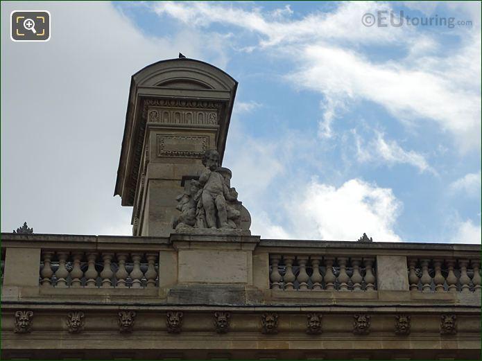 Western Facade Aile En Retour Mollien With L'Europe Statue