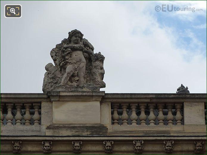 North Facade Aile En Retour Mollien Le Printemps Statue