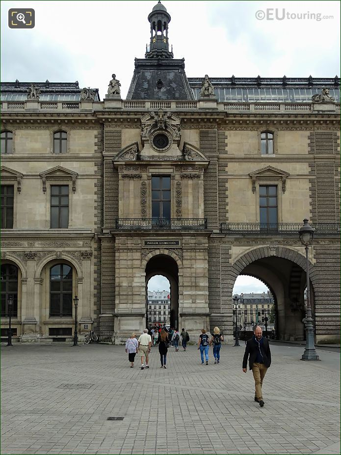 North Facade Of Pavillon Lesdiguieres Musee Du Louvre
