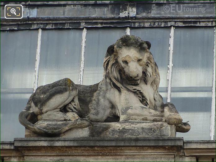 LHS Lion Statue Guichet Lesdiguieres Musee Louvre