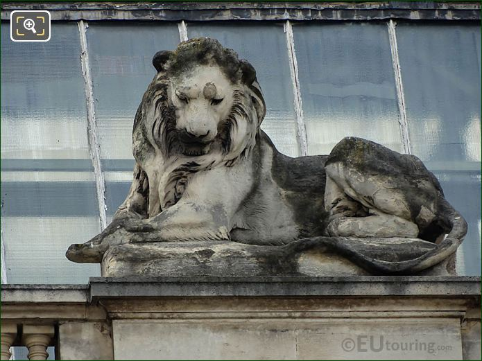 RHS Lion Statue North Facade Guichets Lesdiguieres