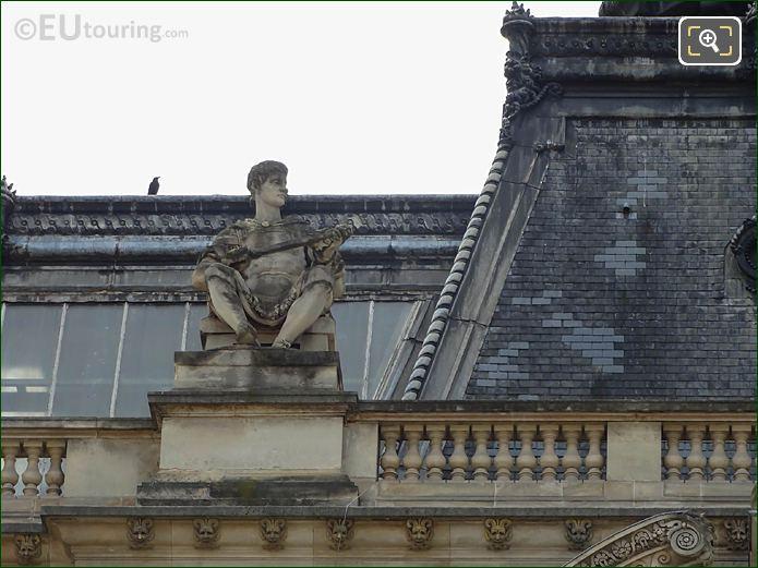 Pavillon Tremoille LHS Guerrier Assis Statue Musee Louvre