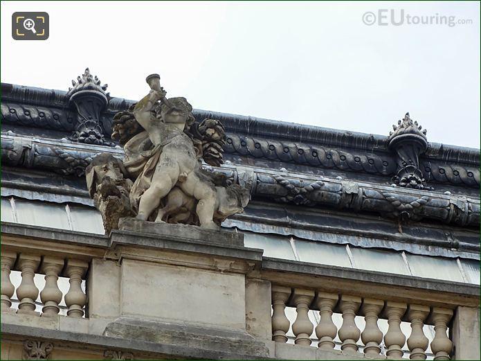 North Facade Pavillon De Tremoille And La Chasse Statue