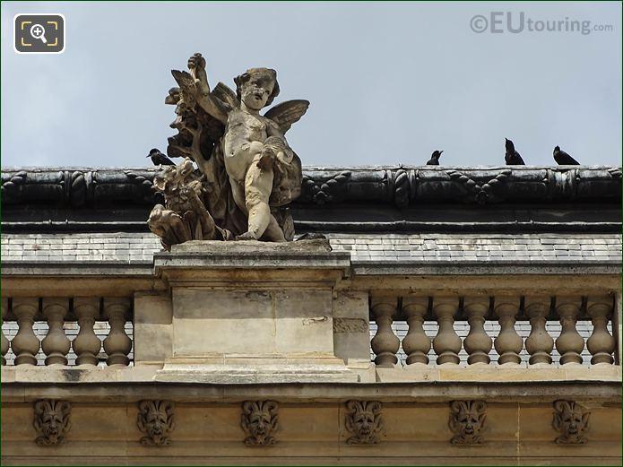 North Facade Pavillon Etats Le Retour De La Chasse Statue