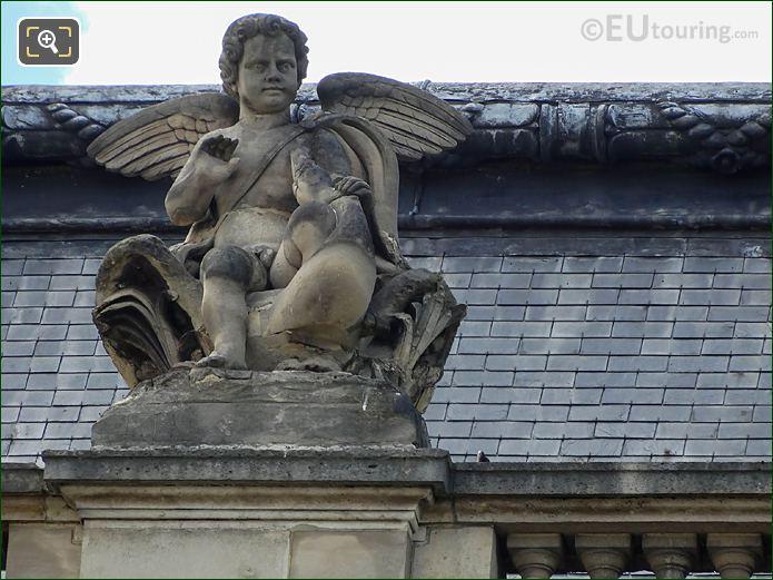 Amour Statue Pavillon Des Etats Musee Louvre
