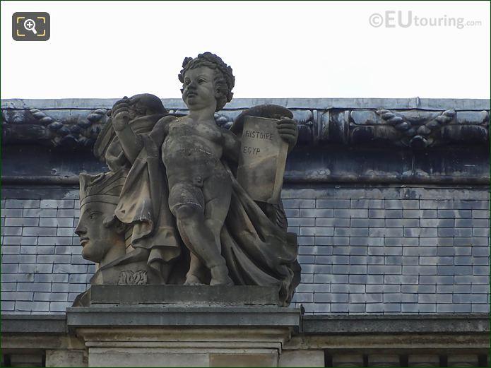 The Histoire Statue Pavillon Des Etats Musee Louvre