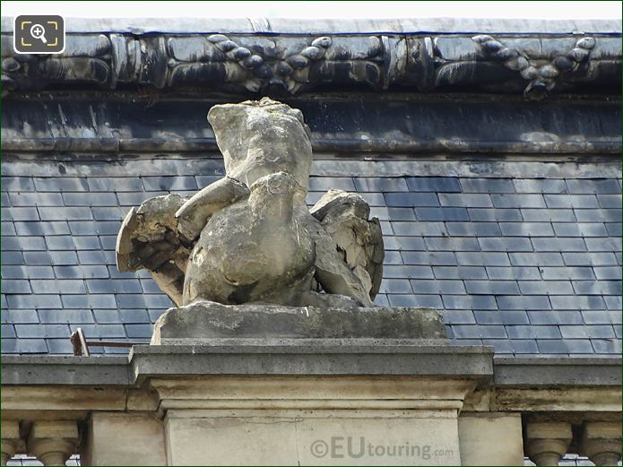 La Verite Statue North Facade Pavillon Des Etats