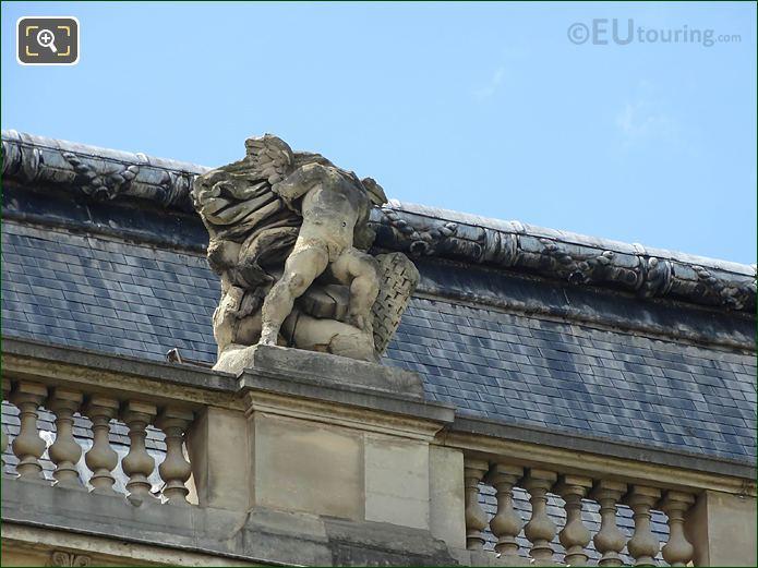 Guerre Statue Pavillon Des Etats Musee Louvre