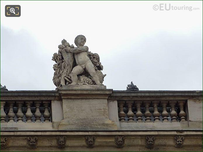 North Facade Aile Mollien L'Abondance Statue