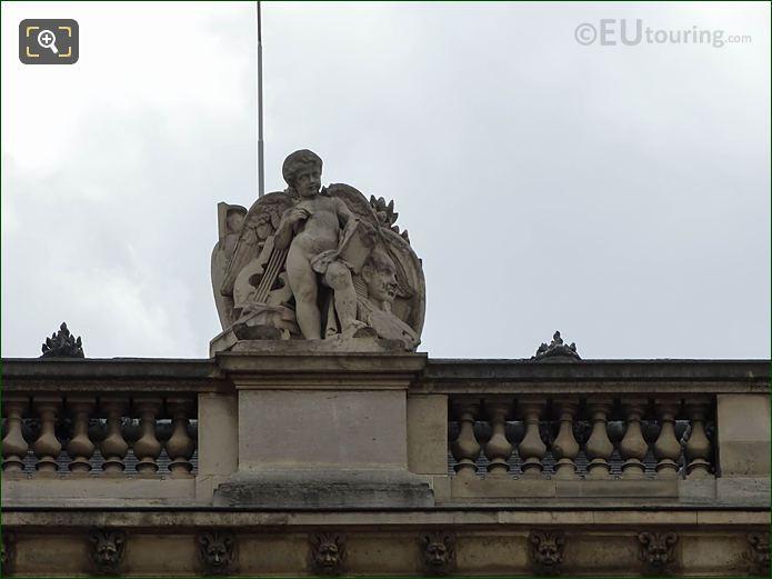 Aile Mollien Facade With Les Beaux-arts Statue