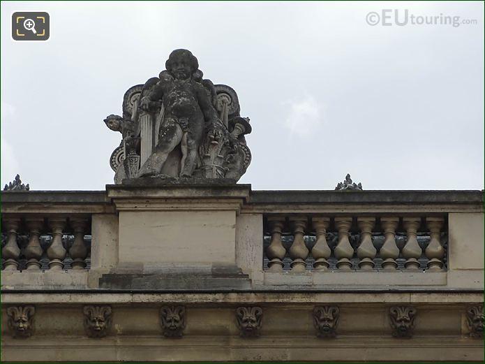 North Facade Aile Mollien La Renaissance Statue