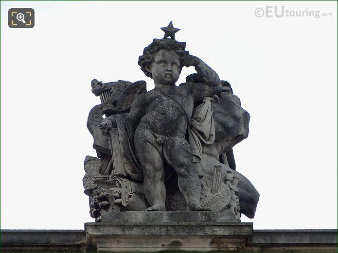 Les Beaux-arts Statue Aile Mollien Musee Louvre