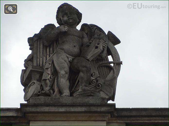 La Musique Statue Aile Mollien Musee Louvre
