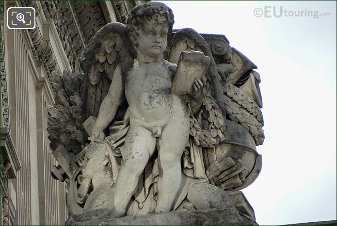 L'Etude Statue Aile Mollien Musee Louvre