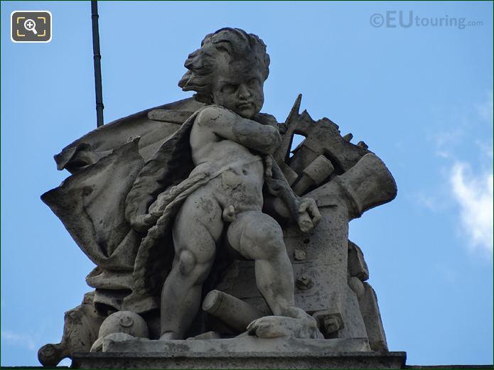 Aile Daru Les Combats Statue On Pedestal