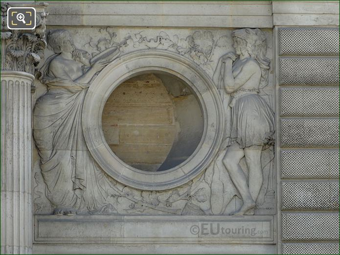 La Prudence Et La Force Pavillon Daru Musee Du Louvre
