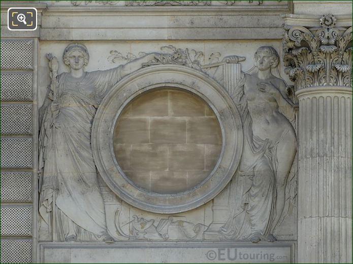 La Justice Et La Fraternite Pavillon Daru Musee Du Louvre