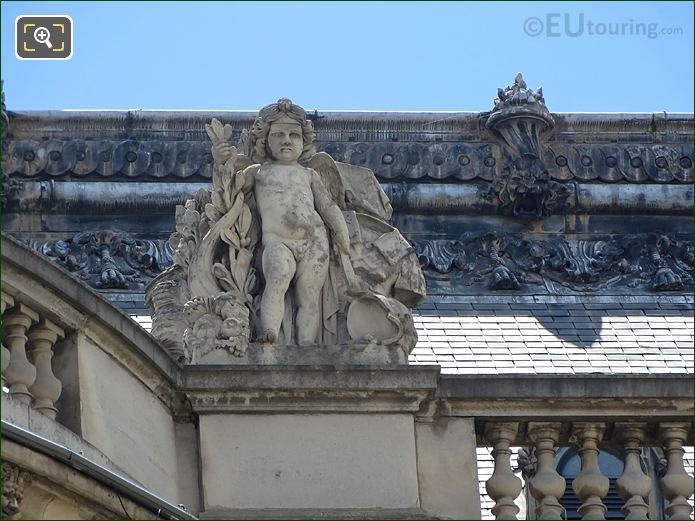 North Facade Rotonde d'Apollon With La Paix