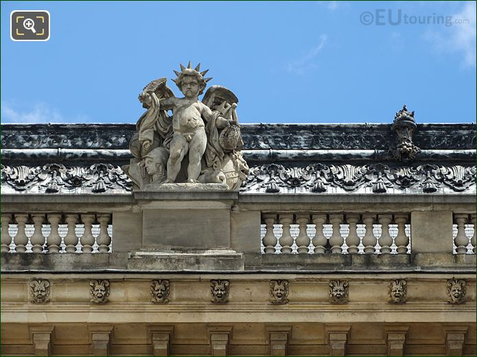 West Facade Aile Henri II Les Gloires De La France Statue