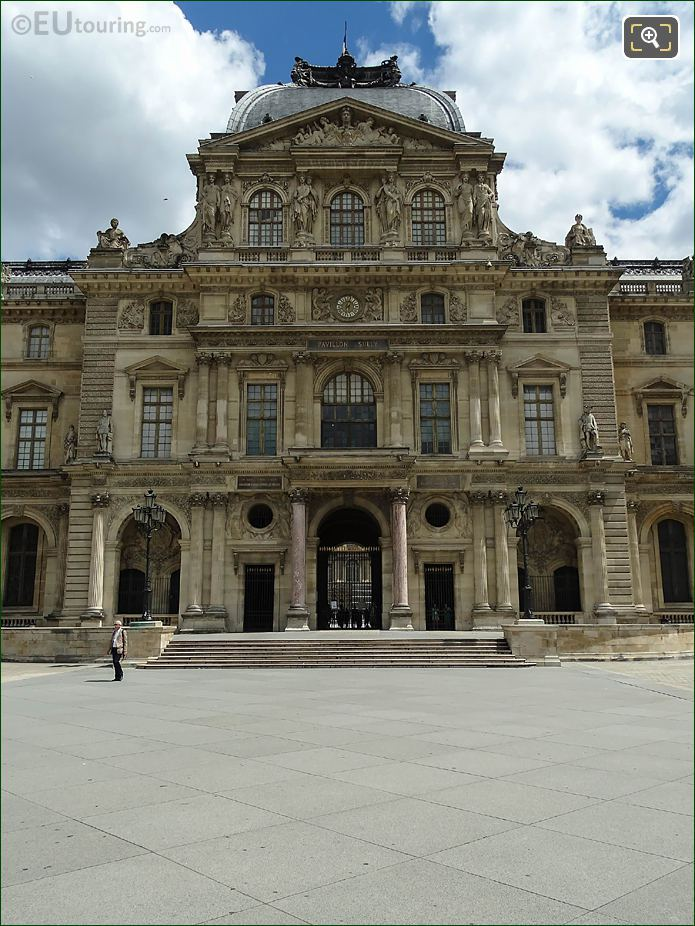 West Facade Of Pavillon Sully At The Louvre