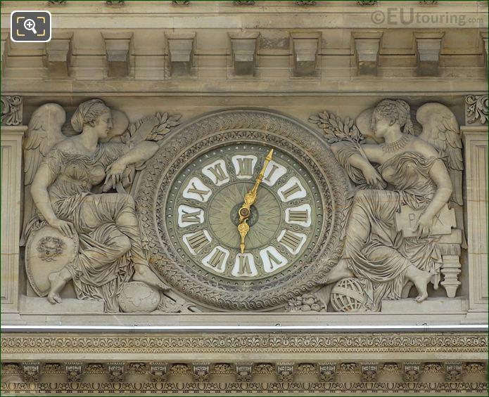 La Paix Et La Guerre Around Clock On Pavillon Sully