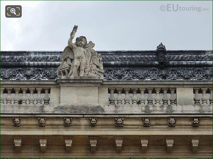 Top Facade Aile Henri IV With La Civilisation Statue