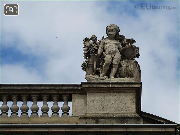 La Vendange Statue Rotonde De Beavais Musee Louvre
