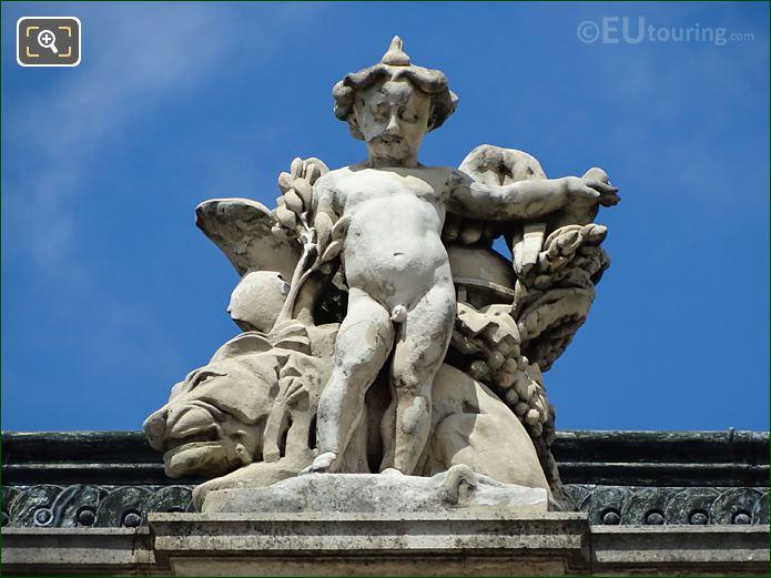 La Paix Statue Aile Colbert Musee Louvre