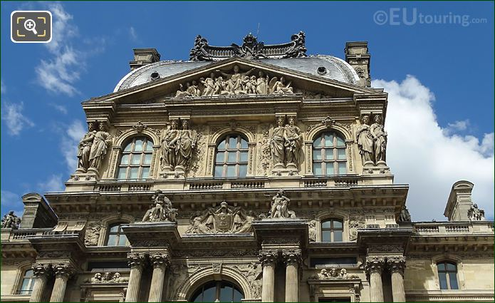 South Facade Of Pavillon Richelieu At The Louvre