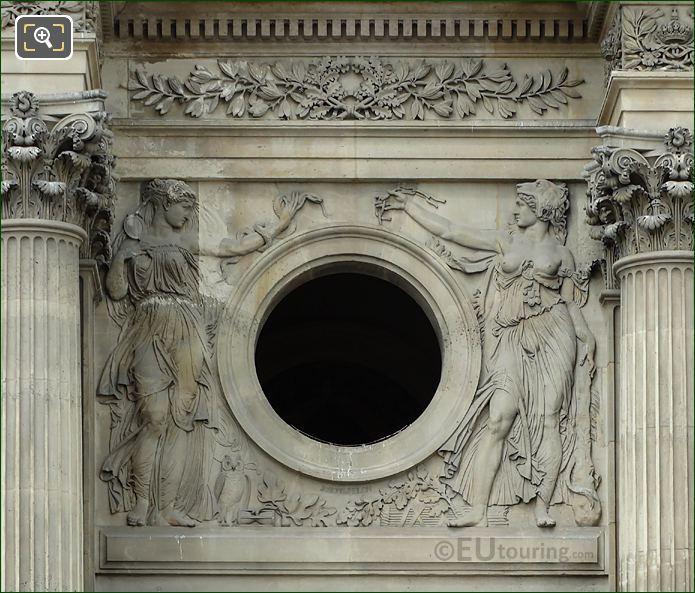 La Prudence Et La Force Sculpture Pavillon Richelieu