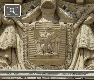Imperial Eagle On La Force Et La Paix Sculpture