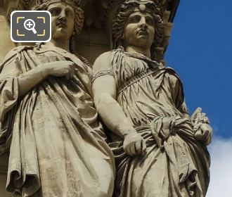 Pavillon Richelieu RHS Caryatids By Astyanax Scaevola Bosio