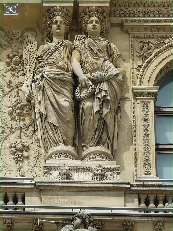 3rd From LHS Caryatids Sculptures Pavillon Richelieu
