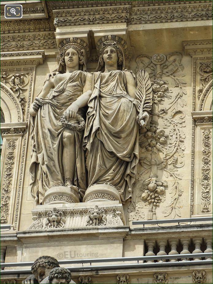 2nd Caryatid Sculptures Pavillon Richelieu Musee Louvre