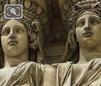 Caryatid Sculptures By Joseph Michel Ange Pollet