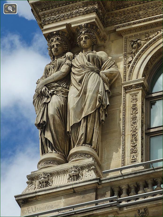 Caryatid Sculptures LHS Pavillon Richelieu Musee Du Louvre