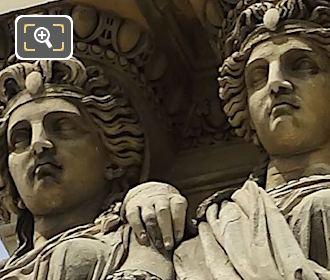 LHS Caryatid Sculptures By Astyanax Scaevola Bosio