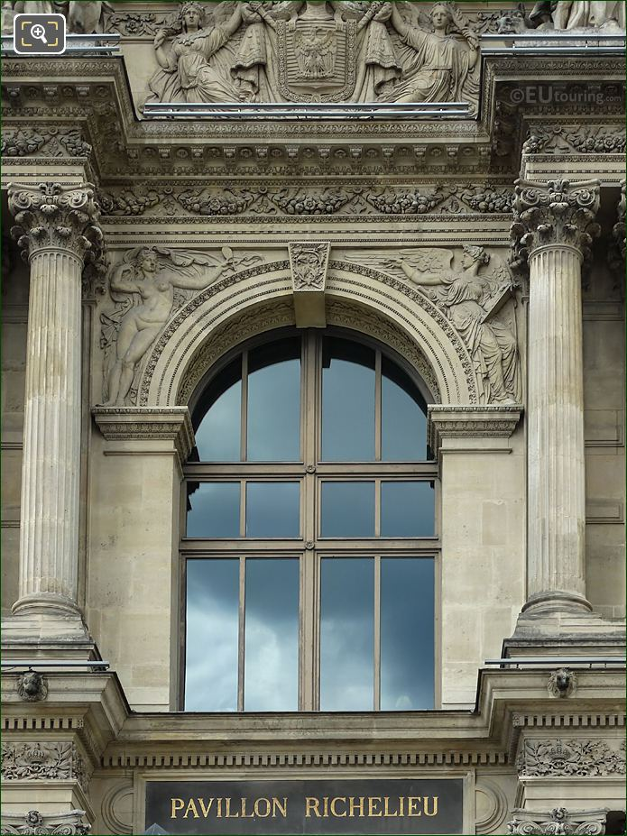 Pavillon Richelieu La Verite Et Histoire Sculpture