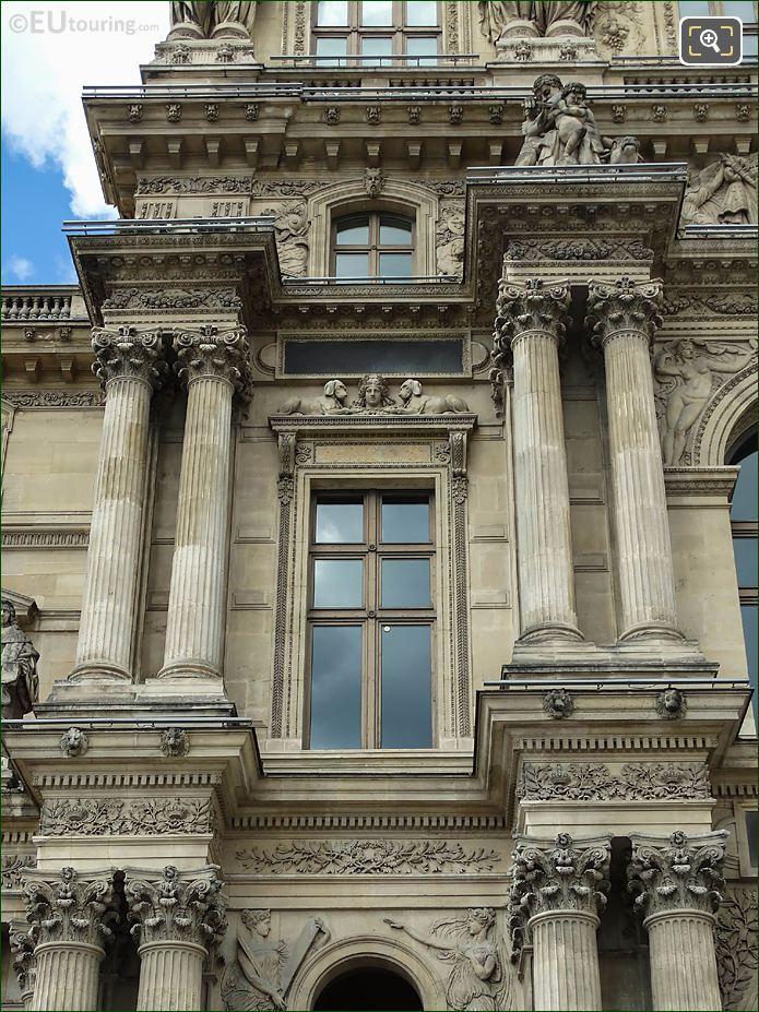 Pavillon Richelieu LHS Window Diane Entre Deux Chiens Sculpture