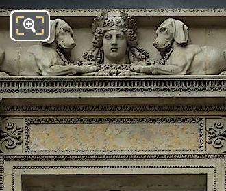 Diane Entre Deux Chiens Sculpture On Pavillon Richelieu