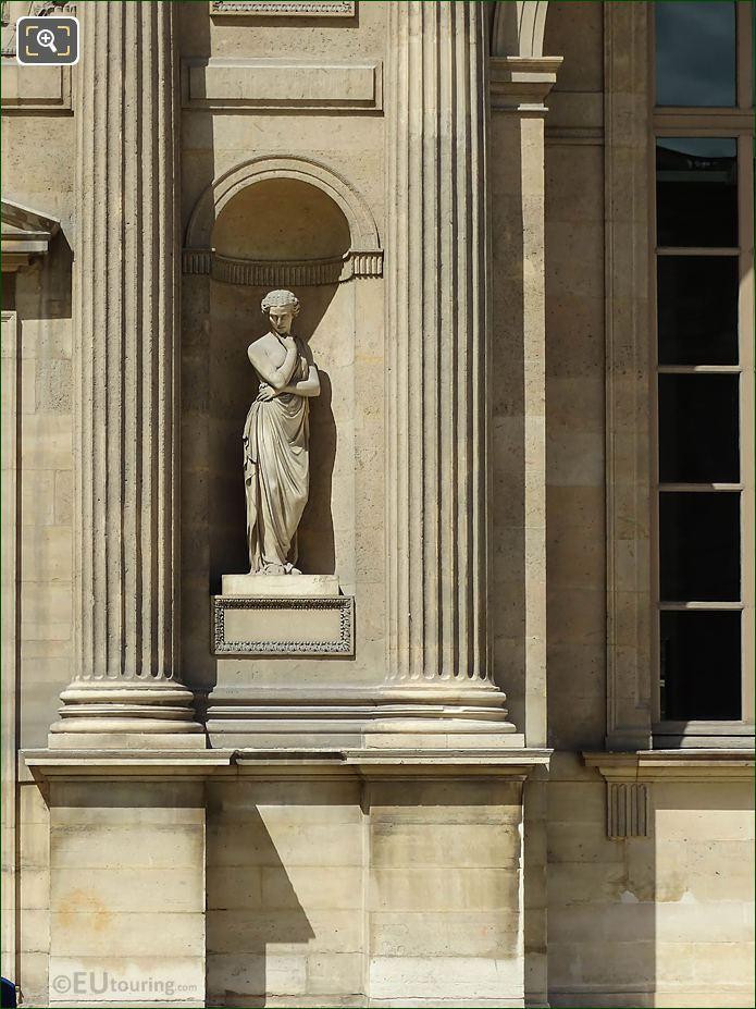 South Facade Aile Nord Pensierosa Statue