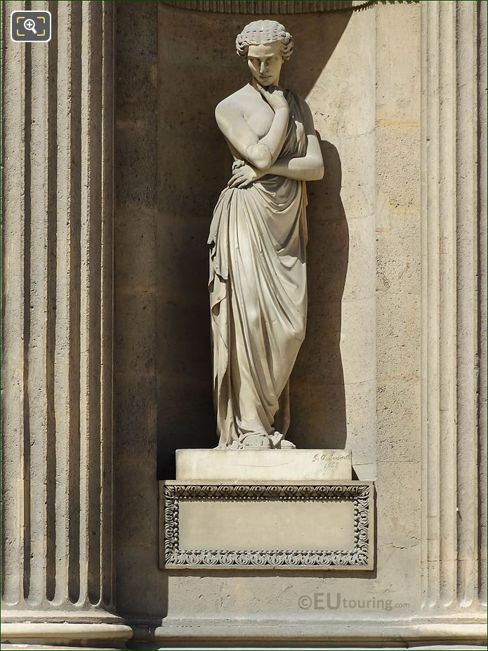 Pensierosa Statue Aile Nord Musee Du Louvre